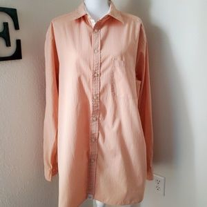 Roundtree & Yorke Casual Button Down Shirt Sz LT